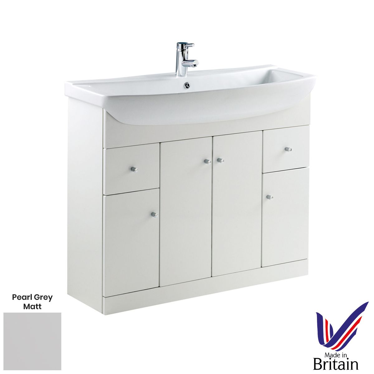 Elation Ikoma Pearl Grey Matt Vanity Unit 1050mm