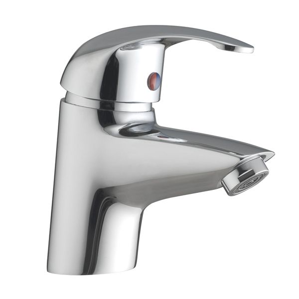 Frontline Compact Mono Basin Mixer Tap with Click Clack Waste