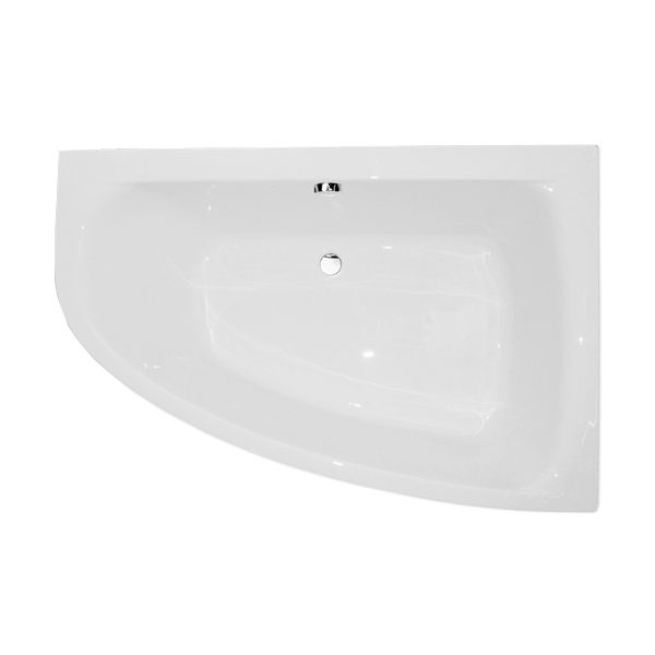 Frontline Cloud Luxury Offset Corner Bath - Right Hand