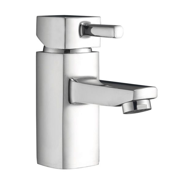 Frontline Cubix2 Mono Basin Mixer Tap with Click Clack Waste