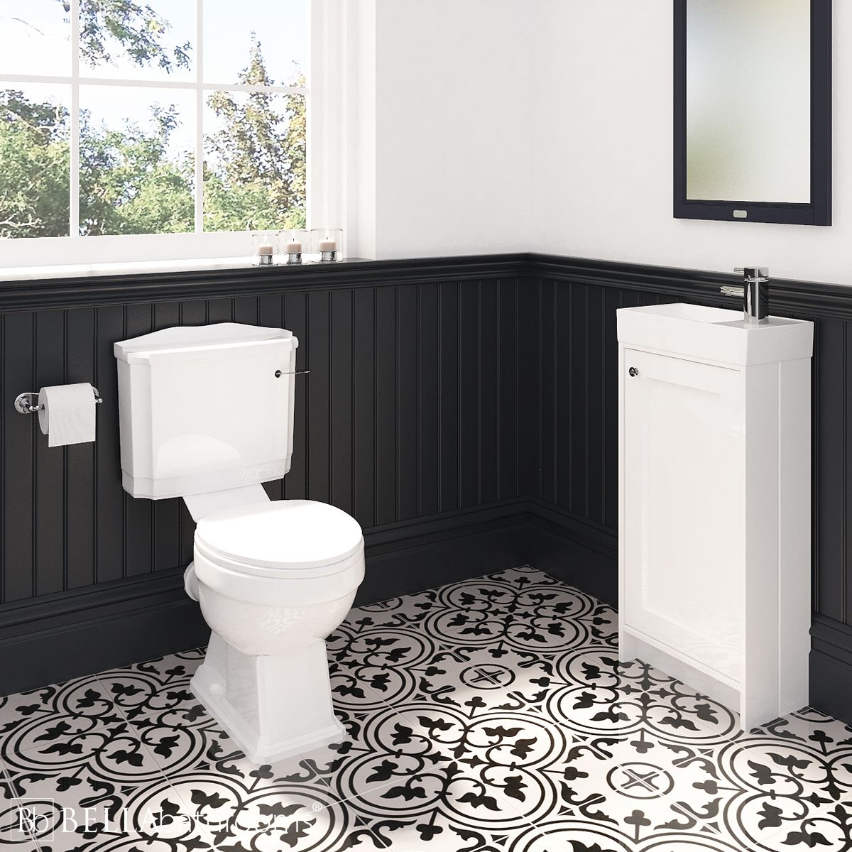 Traditional Vanity Unit and Legend Toilet Cloakroom Suite