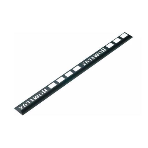 Homelux PVC Round Edge 9mm Black Tile Trim 2.44m