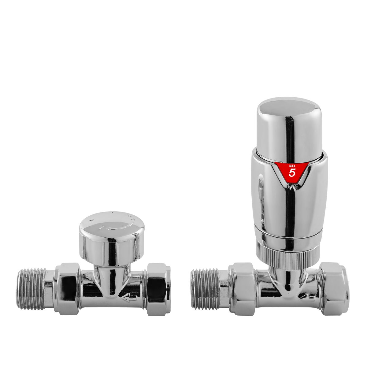Hudson Reed Straight Thermostatic Radiator Valves