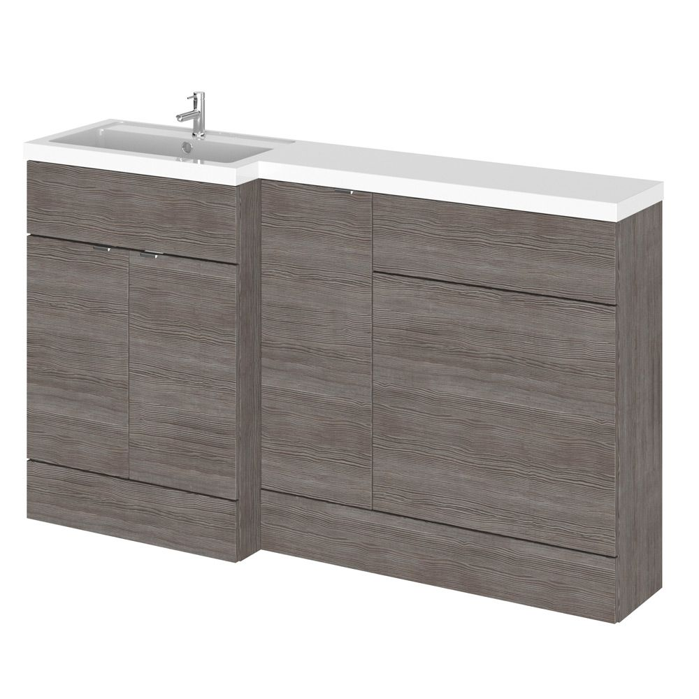 Hudson Reed Fusion Grey Avola Full Depth Combo Furniture Pack 1500mm