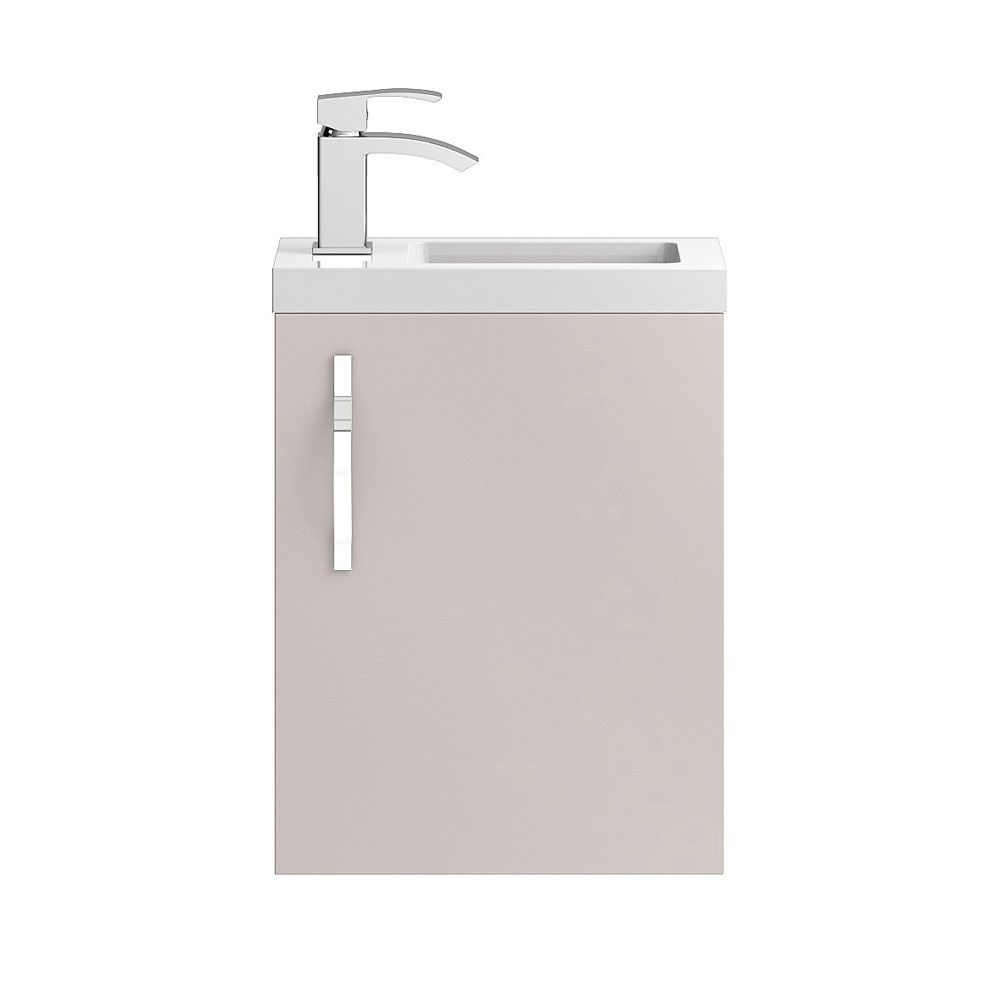 Hudson Reed Apollo Compact Gloss Cashmere Wall Hung Vanity Unit 400mm