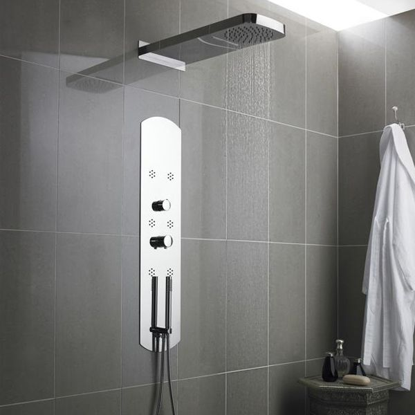 Hudson Reed Interval Chrome Thermostatic Shower Panel