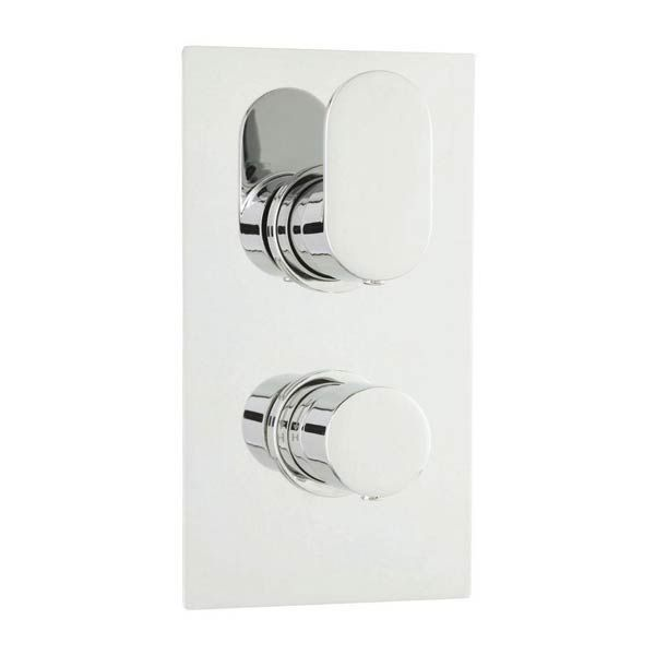 Hudson Reed Reign Twin Concealed Thermostatic Shower Valve with Diverter