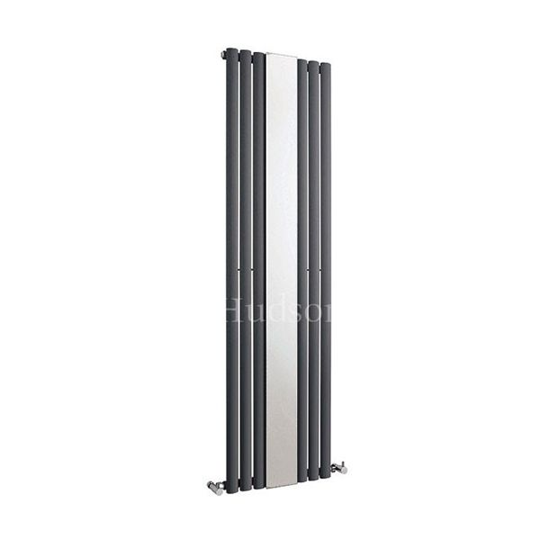 Hudson Reed Revive Anthracite Single Radiator with Mirror 1800 x 499mm