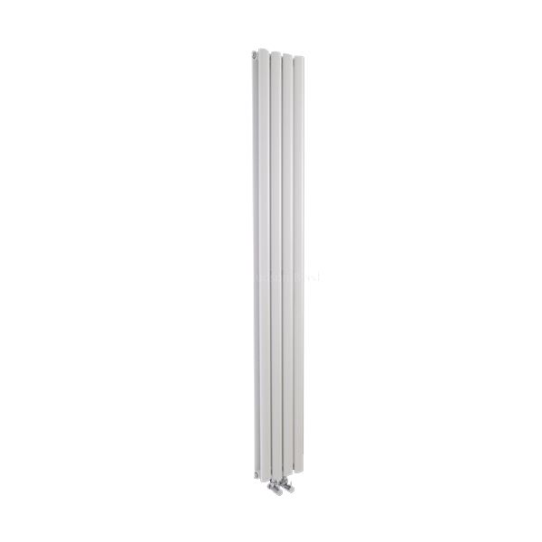 Hudson Reed Revive Compact High Gloss White Vertical Double Panel Designer Radiator