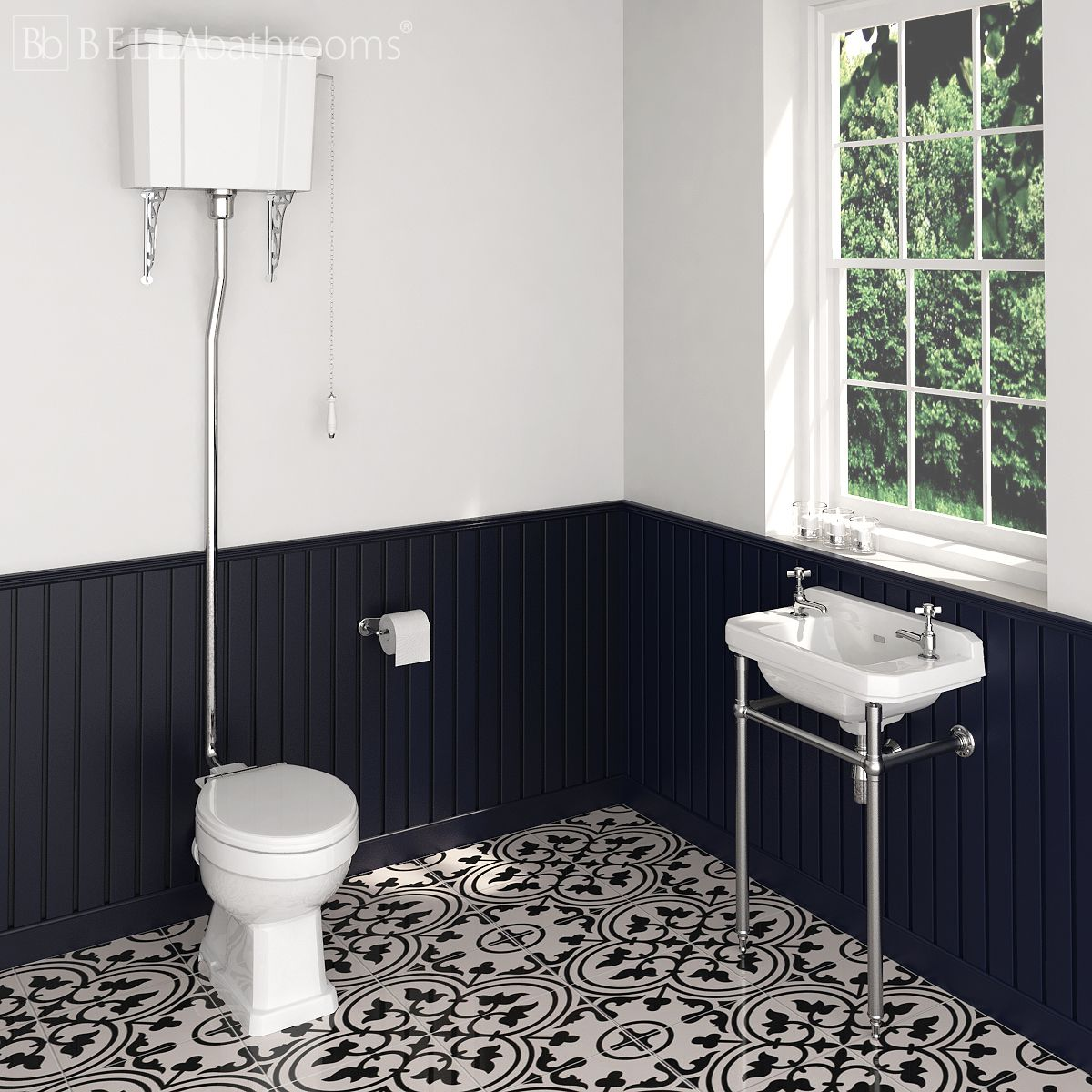 Hudson Reed Richmond High Level Washstand Cloakroom Suite