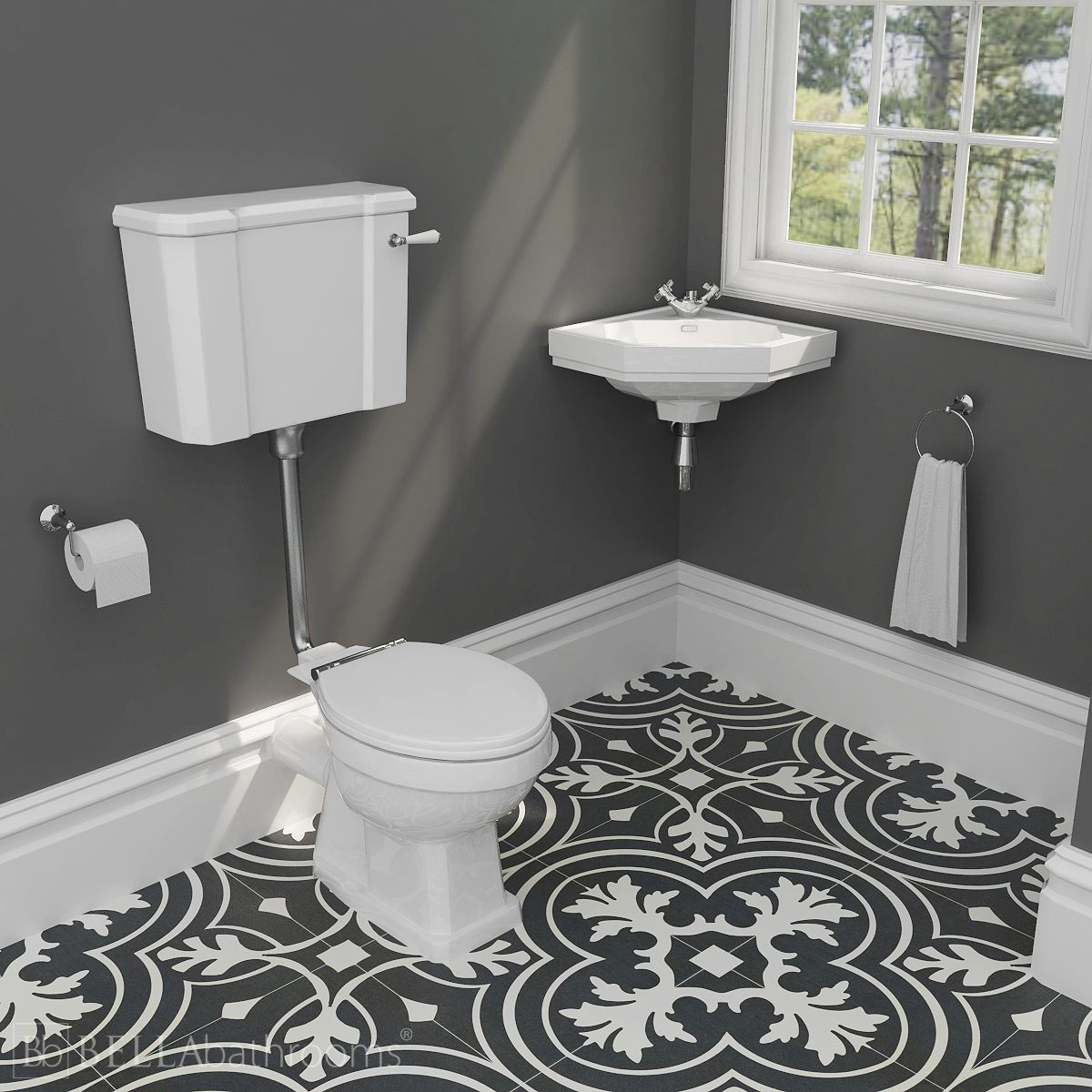Hudson Reed Richmond Traditional Low Level Wall Hung Basin Suite