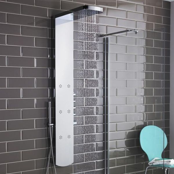 Hudson Reed Shimmer Chrome Thermostatic Shower Panel