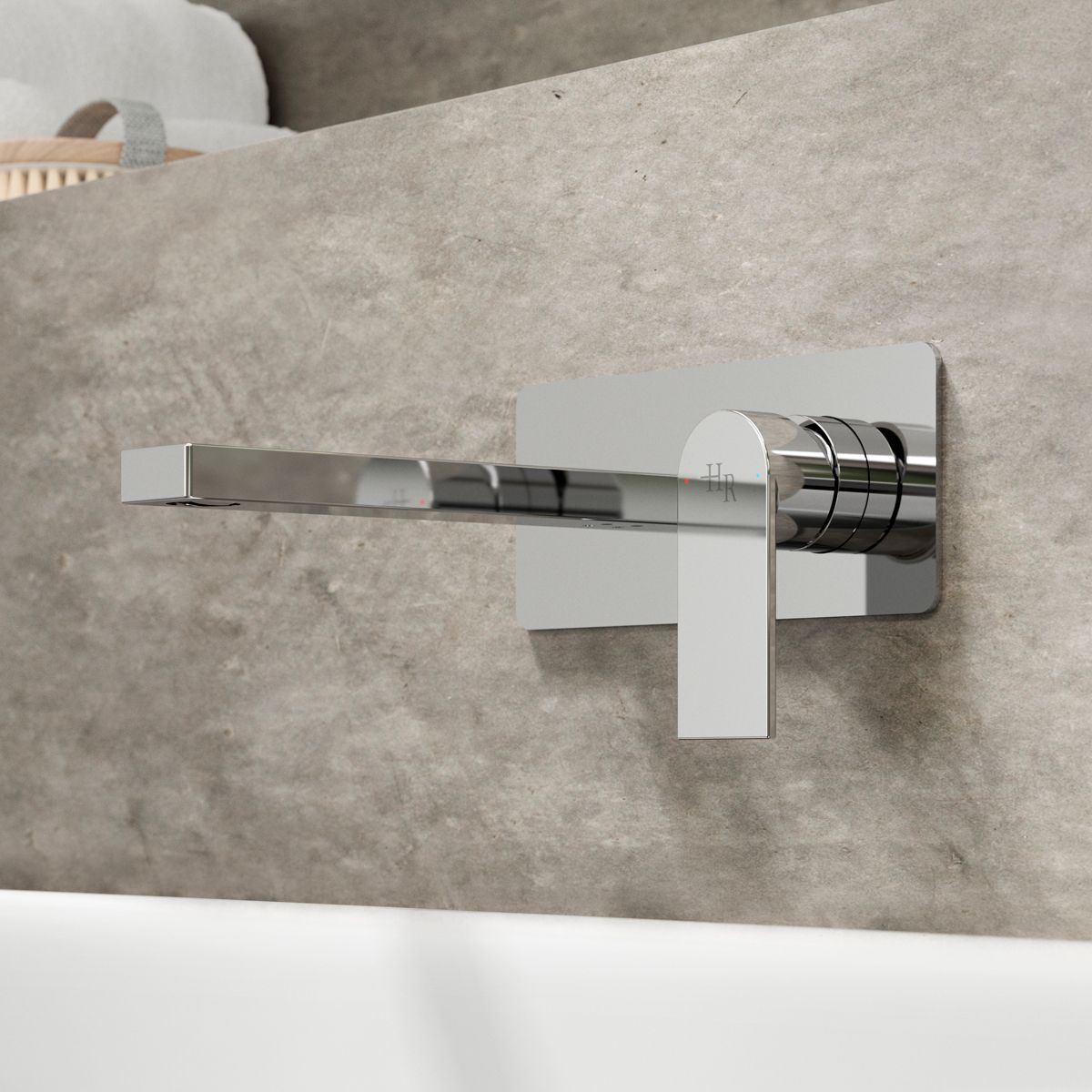 Hudson Reed Sottile Wall Mounted Basin Mixer Tap Lifestyle