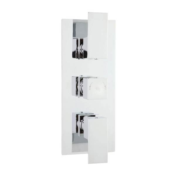 Hudson Reed Art Triple Chrome Concealed Thermostatic Shower Valve