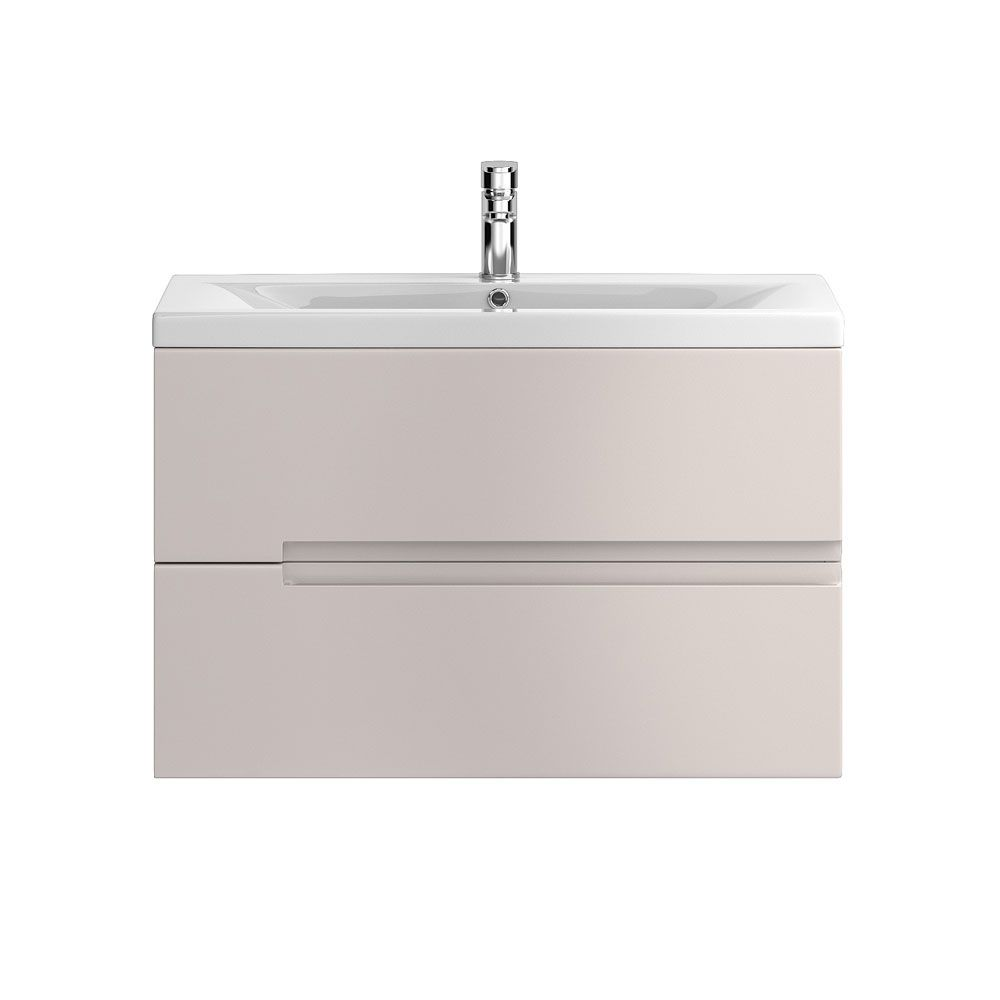 Hudson Reed Urban Gloss Cashmere Wall Hung Vanity Unit 800mm