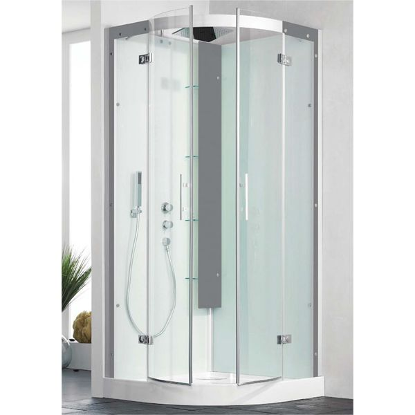Kinedo Horizon Pivot Quadrant Thermostatic Self Contained Shower Cubicle 900 x 900mm