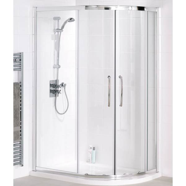 Lakes Silver Easy Fit Offset Quadrant Shower Enclosure