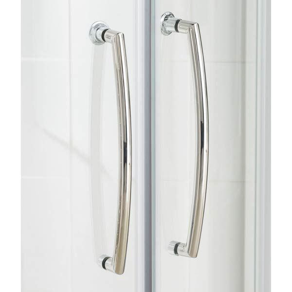 Lakes Silver Easy Fit Offset Quadrant Shower Enclosure Door Handles