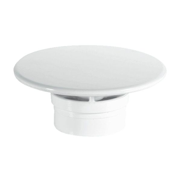 McAlpine White Plastic Mushroom Flange for 1½