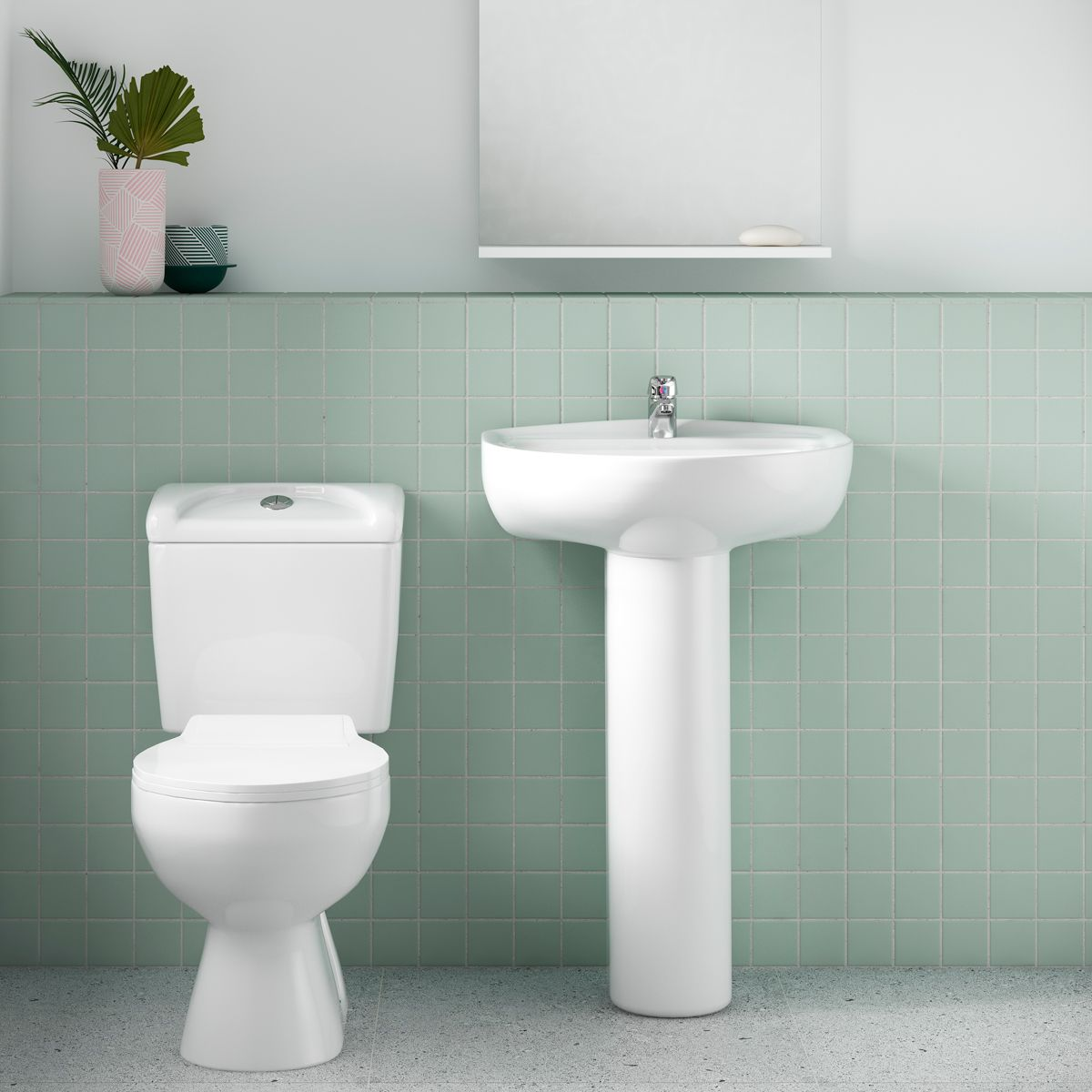 Nuie Melbourne Toilet and Basin Set