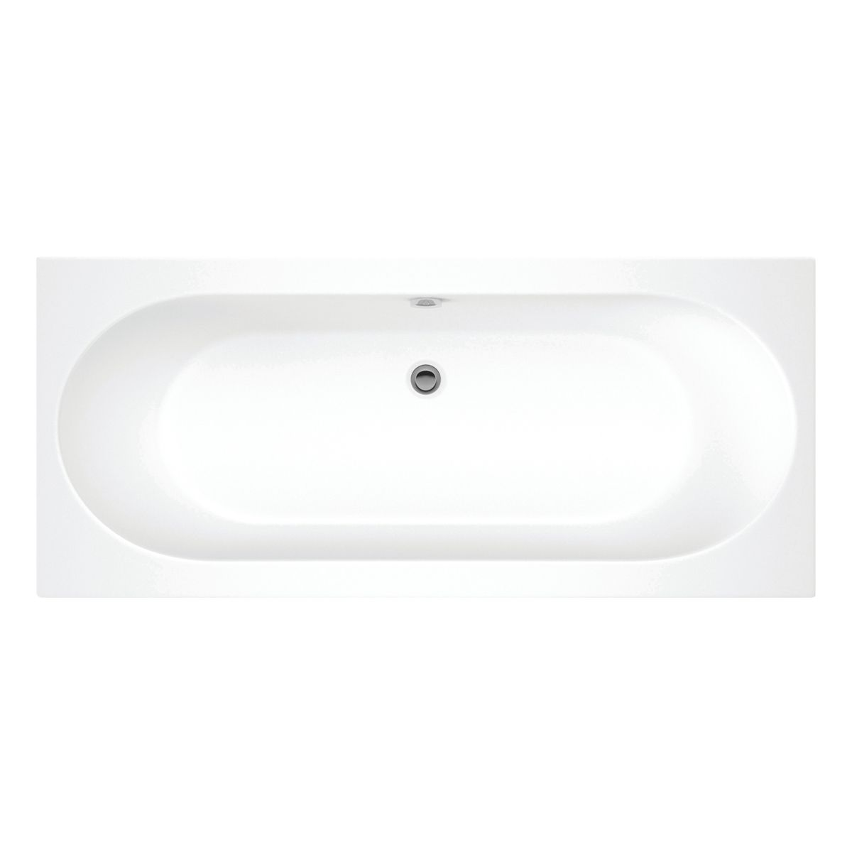 Moods Cascade Supercast Double Ended Whirlpool Bath 1800mm