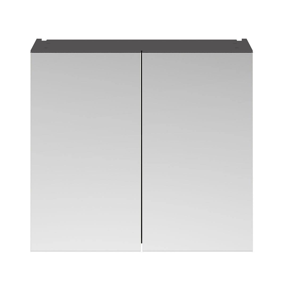 Nuie Athena Gloss Grey Double Mirrored Bathroom Cabinet 800mm