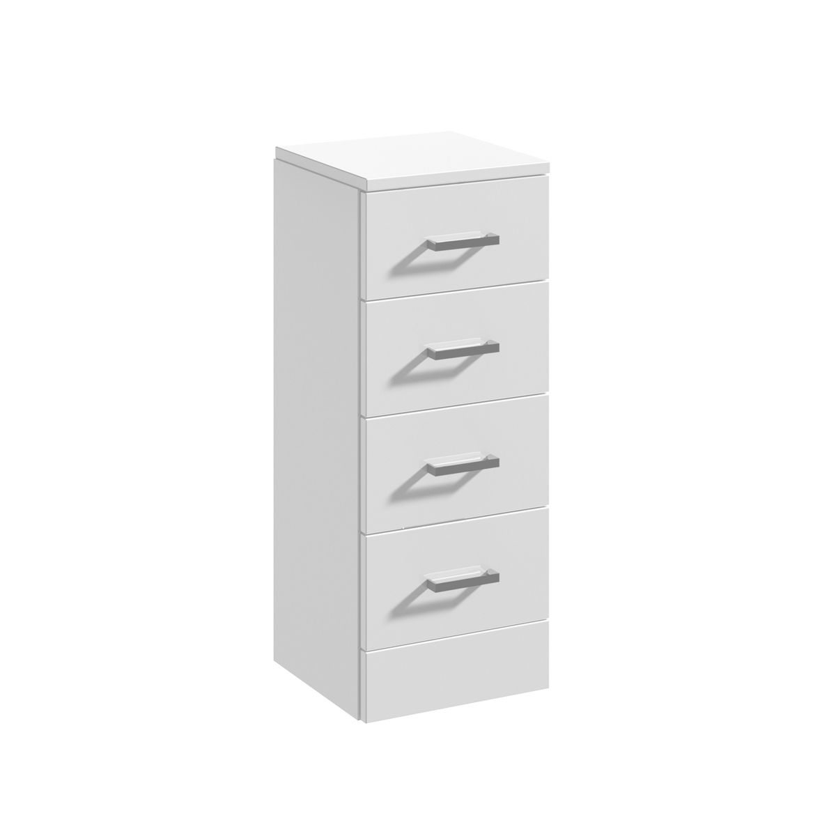 Nuie High Gloss White 4 Drawer Unit 300 x 300mm