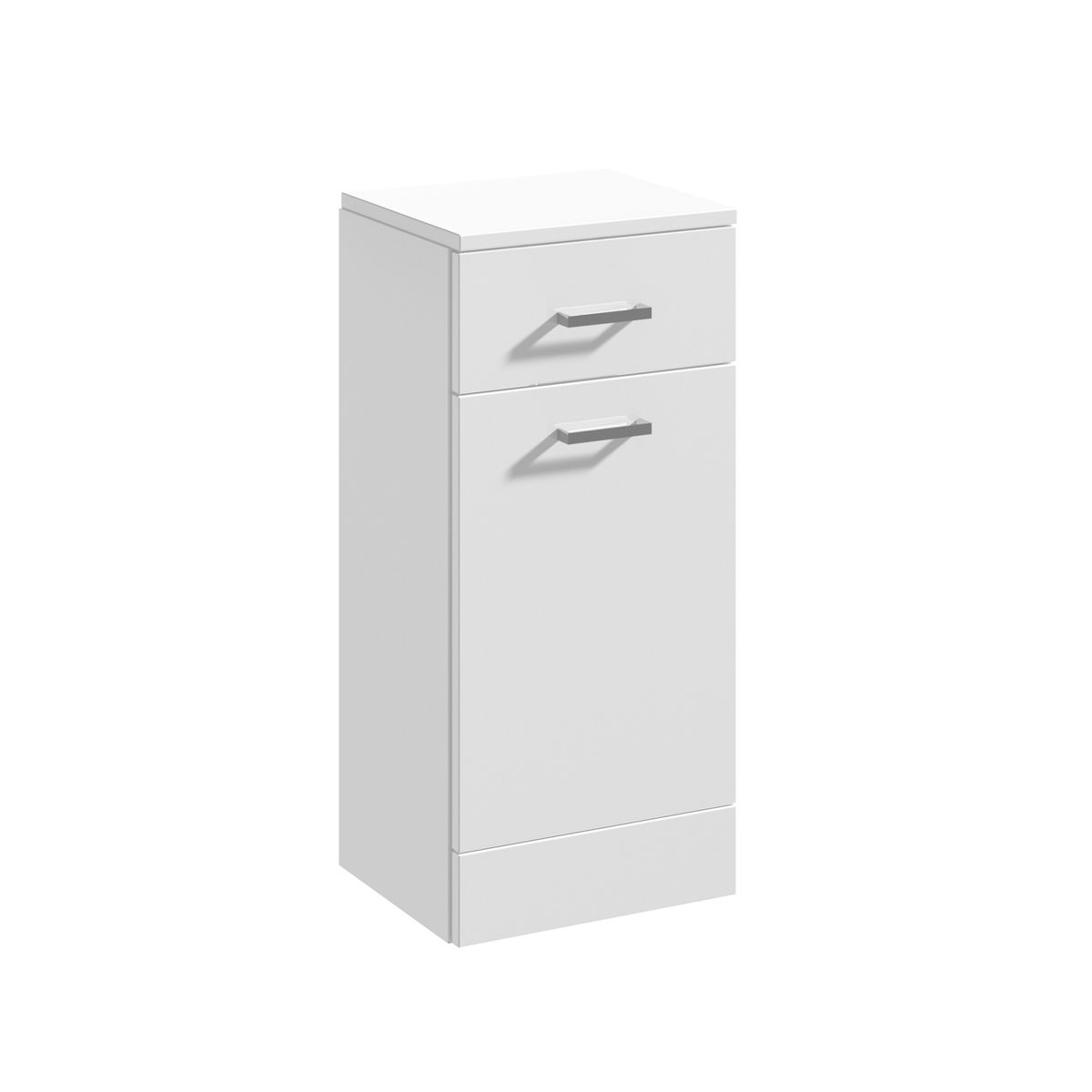 Nuie High Gloss White Laundry Basket 350 x 300mm