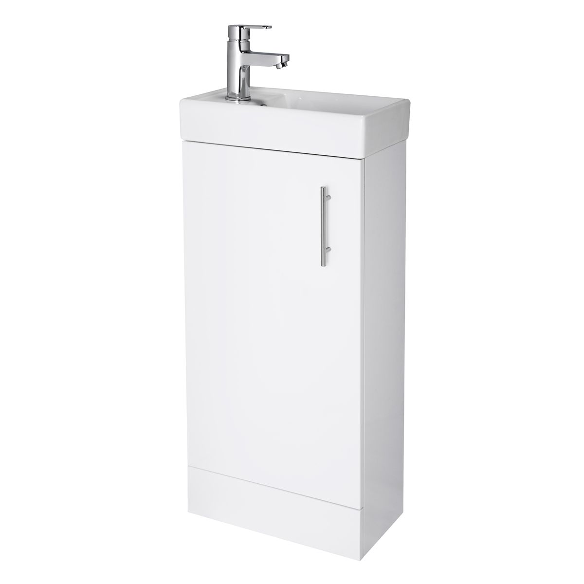 Nuie Vault Gloss White Compact Vanity Unit 400mm