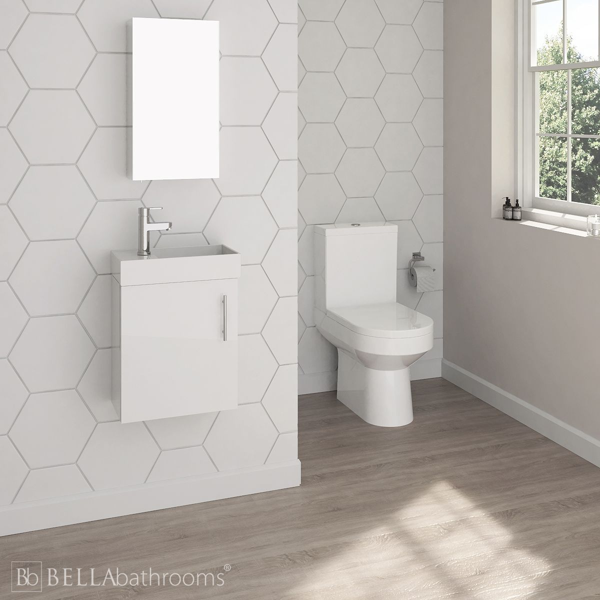 Nuie Vault Wall Hung Vanity Unit and Toilet Set