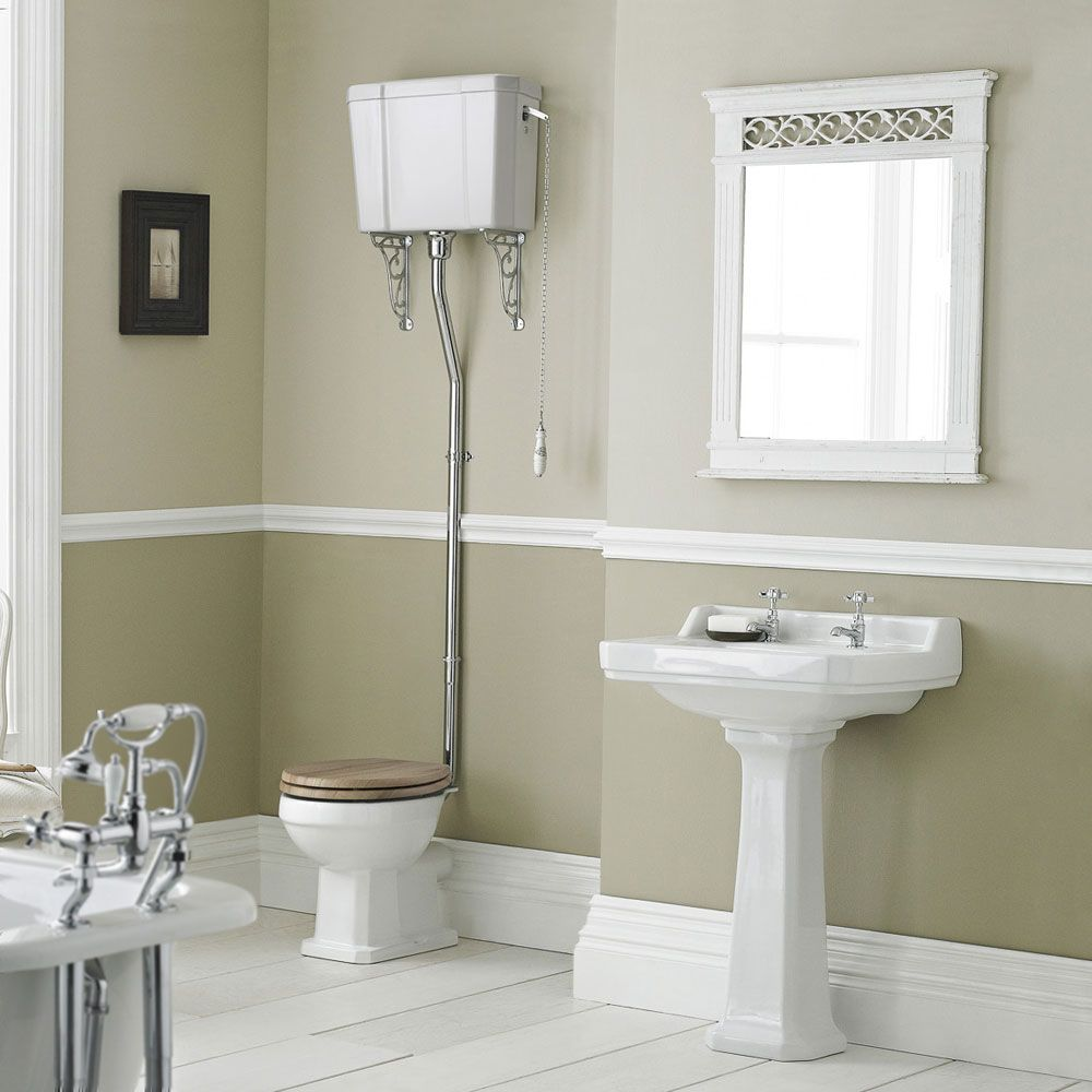 Hudson Reed Richmond Traditional High Level Basin and Toilet Set