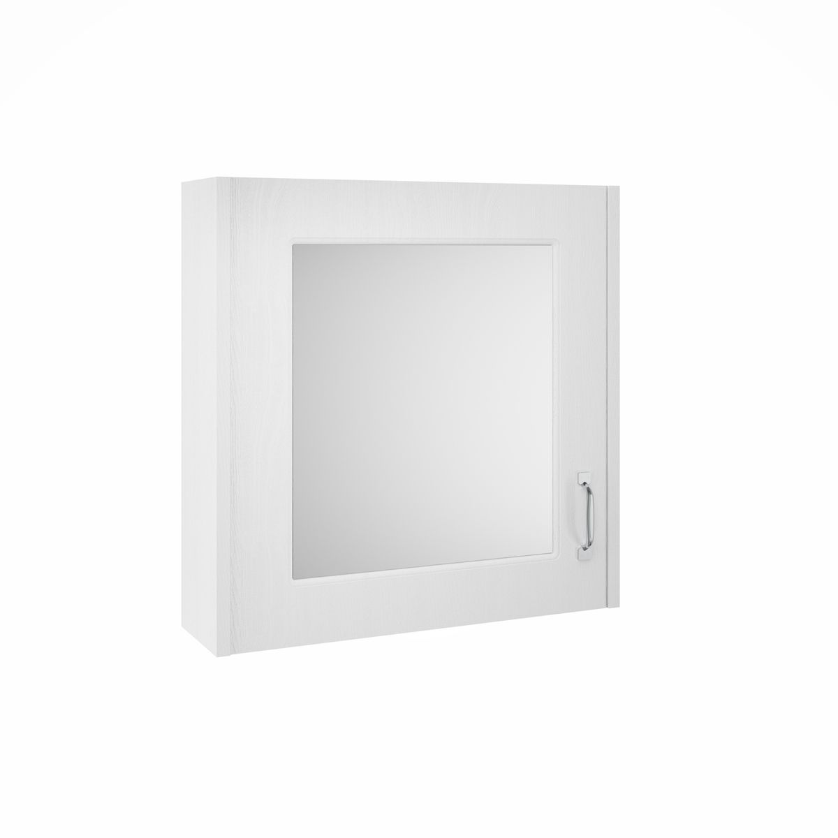 York Traditional White Ash Mirror Cabinet 600mm