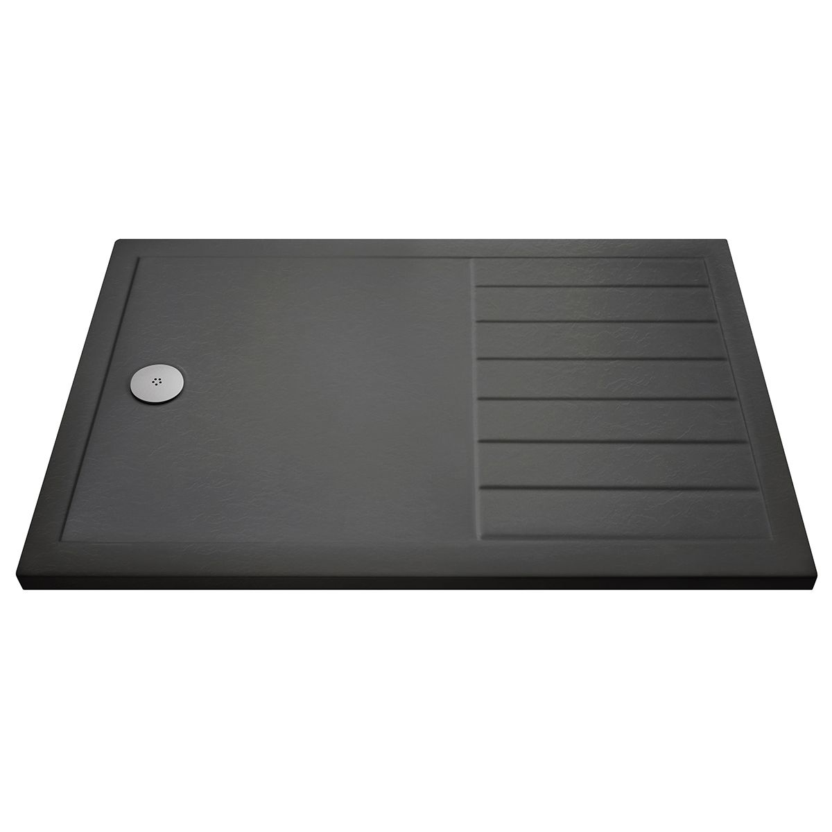 Pearlstone Slate Grey Rectangular Walk-In Shower Tray 1700 x 700mm