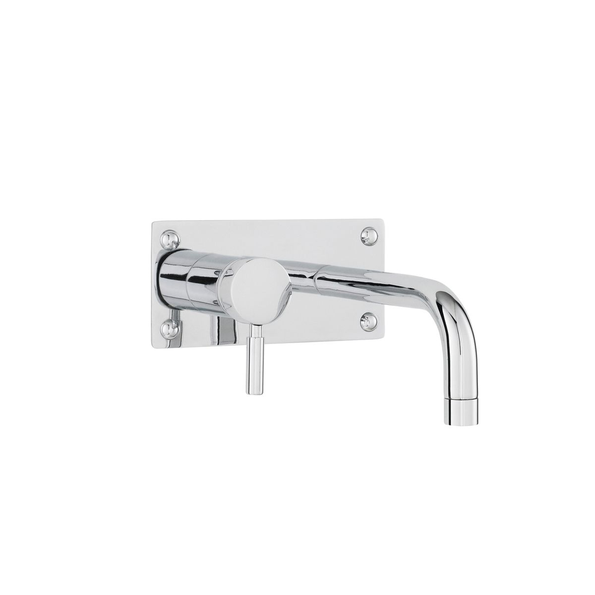 Hudson Reed Tec Single Lever Wall Mounted Basin Bath Filler Tap