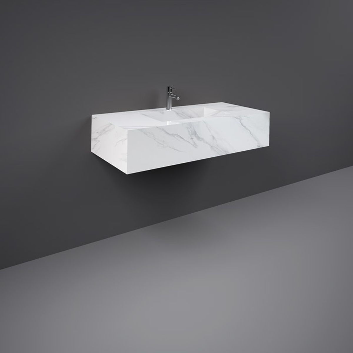 RAK Precious Carrara Wall Hung Counter Basin 1000mm with Brackets