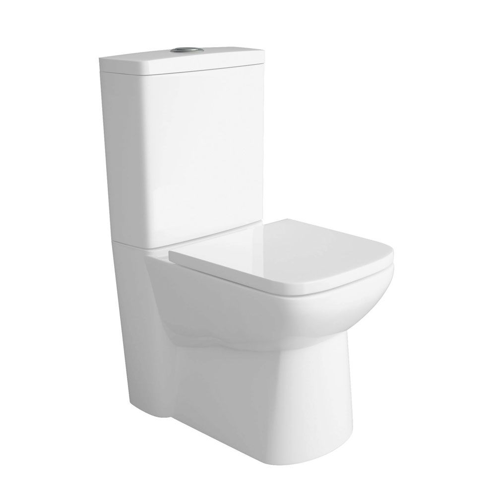 Premier Ambrose Compact Flush To Wall Toilet with Soft Close Seat