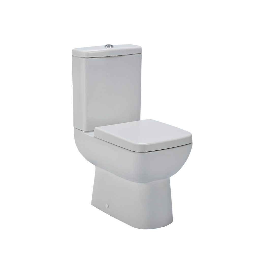 Premier Ambrose Compact Semi Flush to Wall Toilet with Soft Close Seat