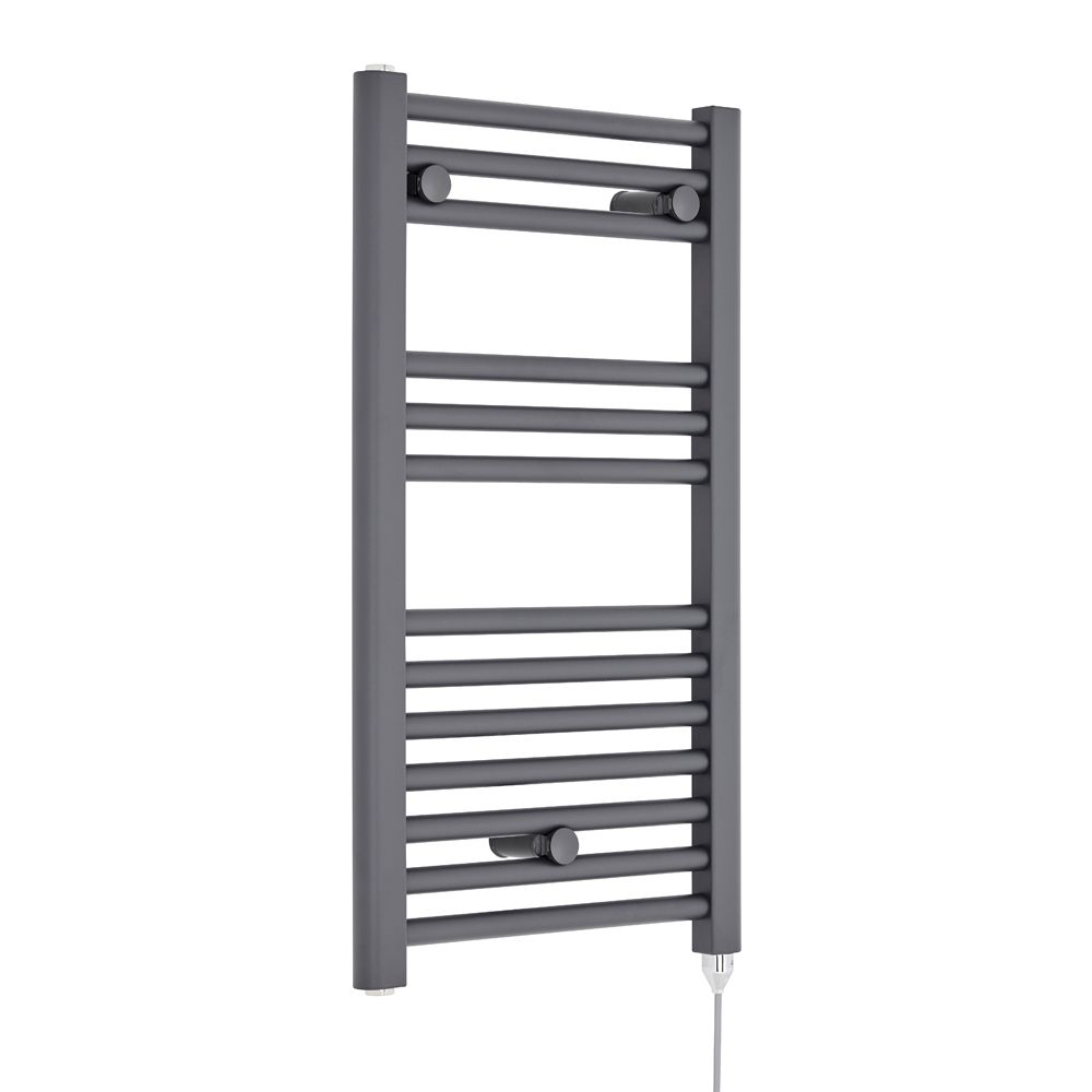 Premier Anthracite Electric Heated Towel Rail 400 x 720mm