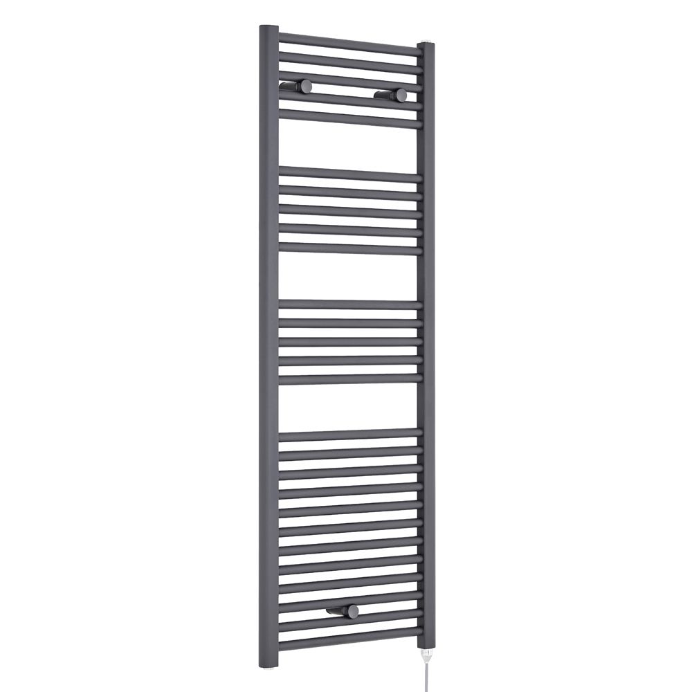 Premier Anthracite Electric Heated Towel Rail 480 x 1375mm
