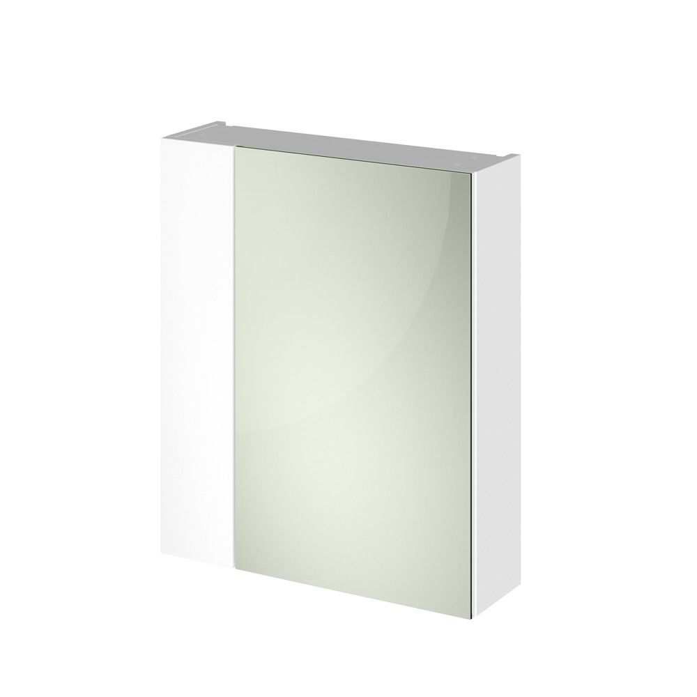 Premier Athena Gloss White Double Mirrored Bathroom Cabinet 600mm