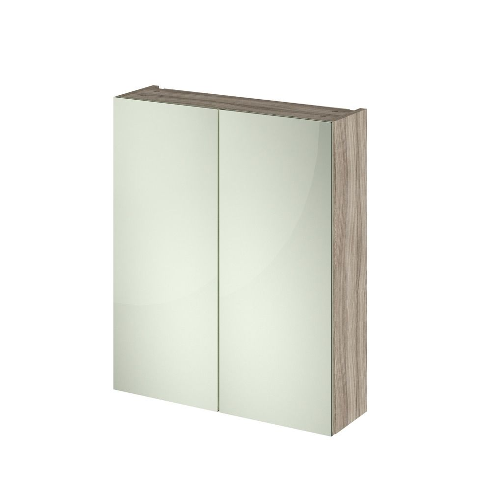 Premier Athena Driftwood Double Mirrored Bathroom Cabinet