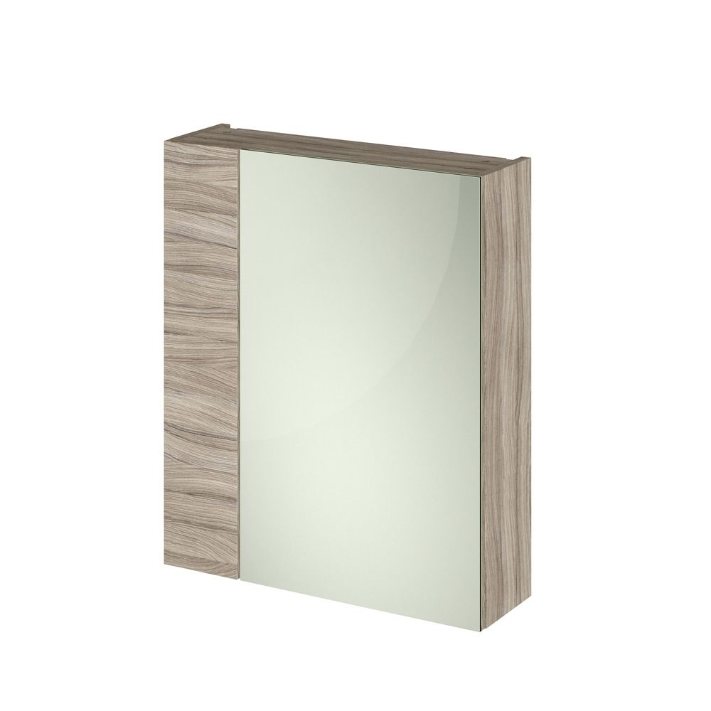 Premier Athena Driftwood Double Mirrored Bathroom Cabinet 600mm