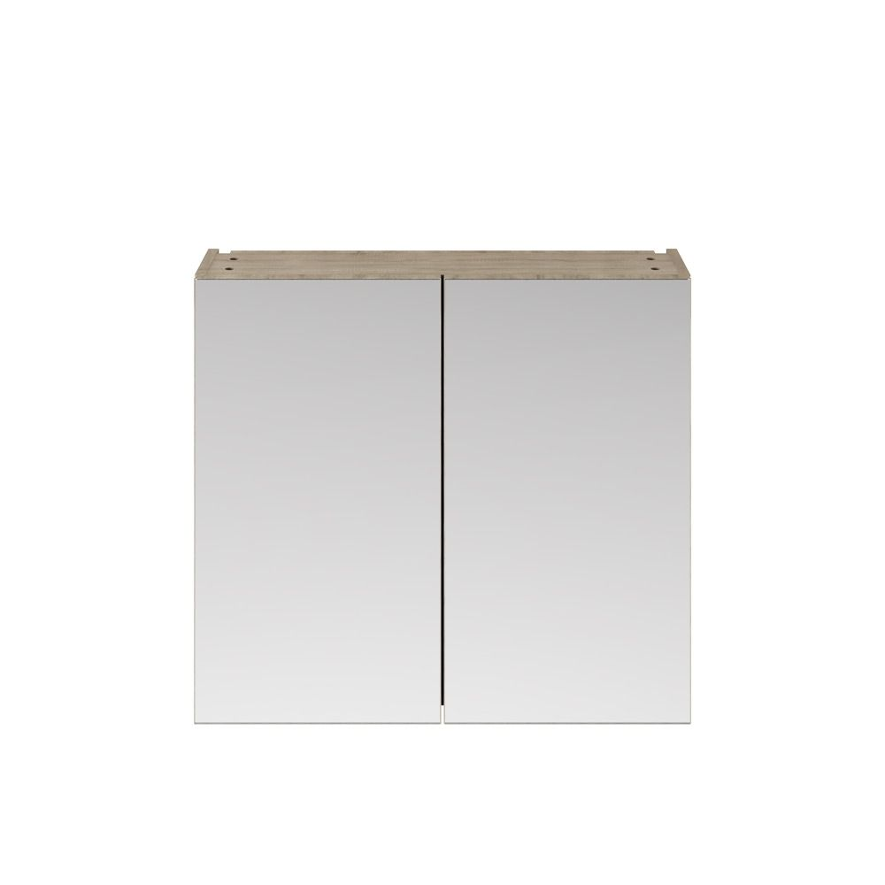 Premier Athena Driftwood Double Mirrored Bathroom Cabinet 800mm