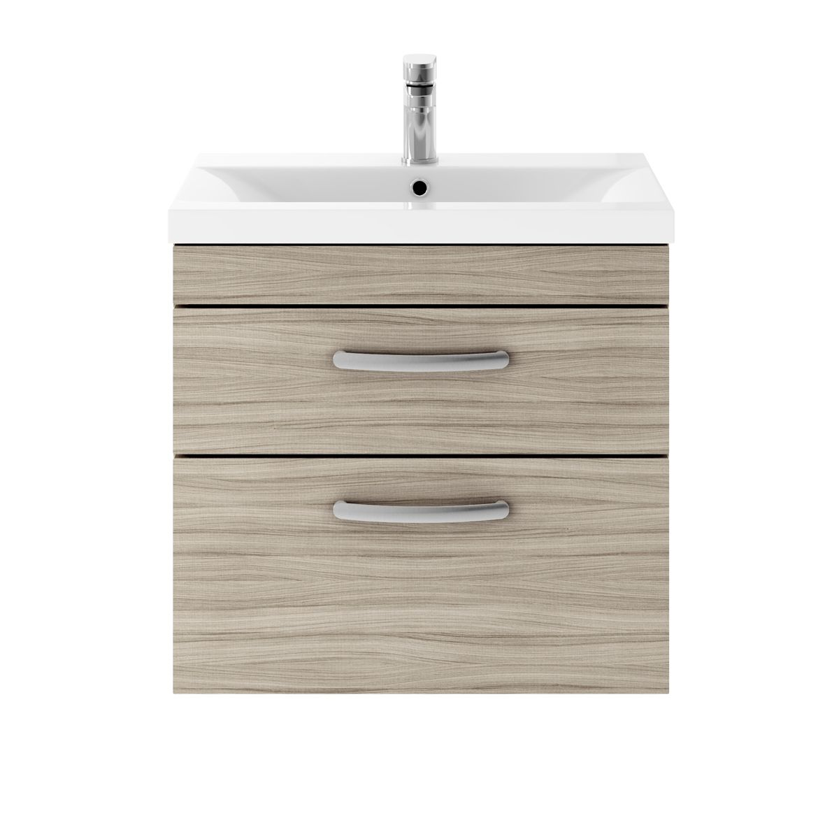 Premier Athena Driftwood 2 Drawer Wall Hung Vanity Unit 600mm