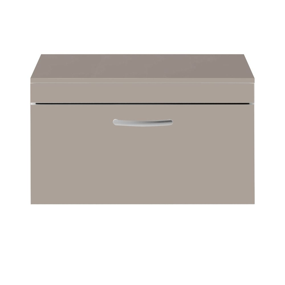Premier Athena Stone Grey 1 Drawer Wall Hung Vanity Unit 800mm with Worktop