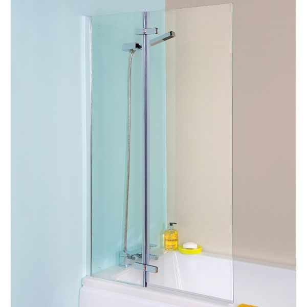 Premier Ella Straight Hinged Bath Screen