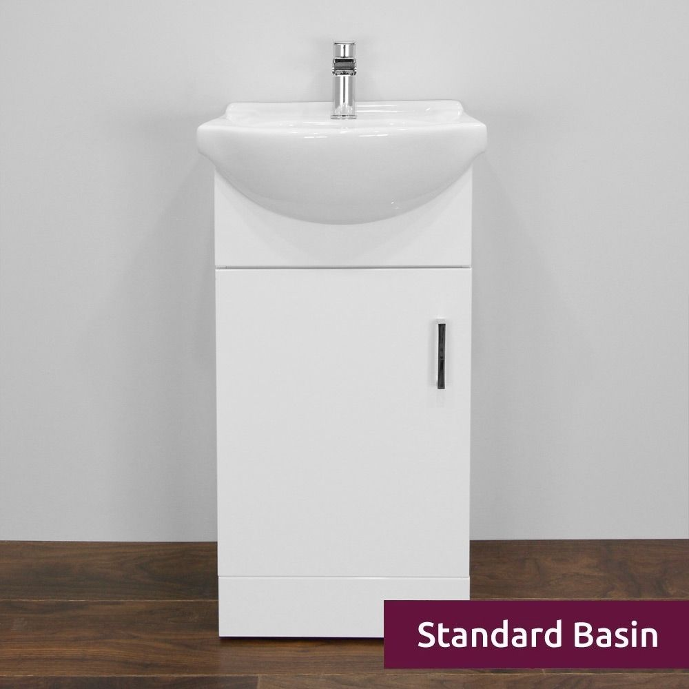 Premier High Gloss White Vanity Unit with Standard Basin 450mm