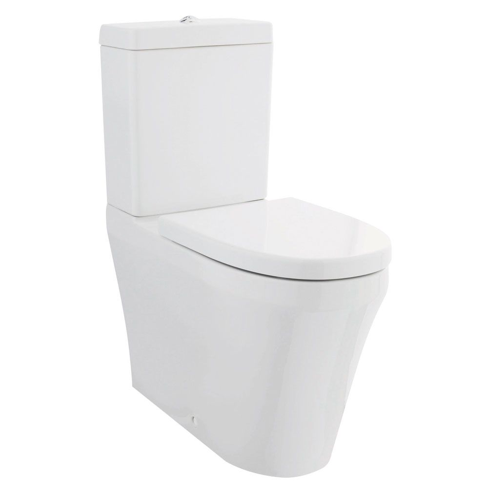 Hudson Reed Luna Flush To Wall Close Coupled Toilet and Soft Close Seat