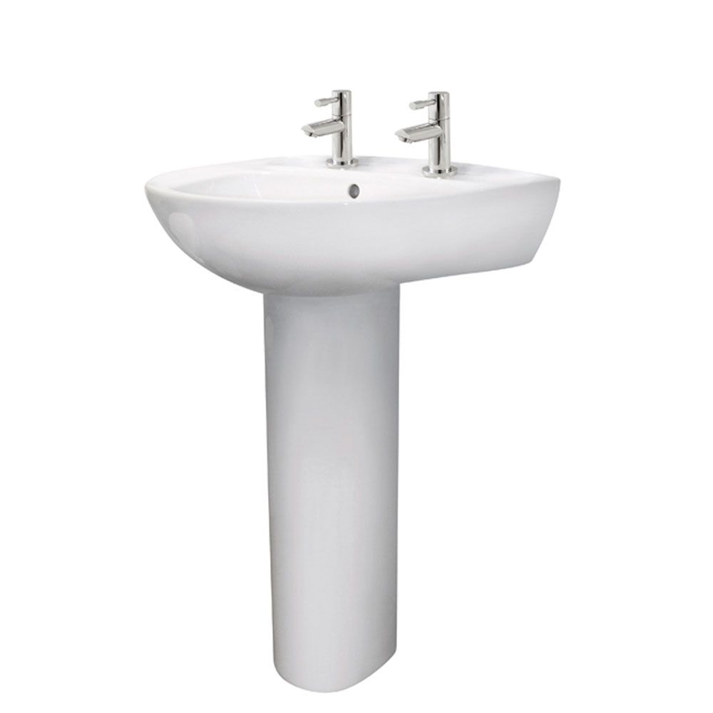 Premier Melbourne 2 Tap Hole Basin 550mm