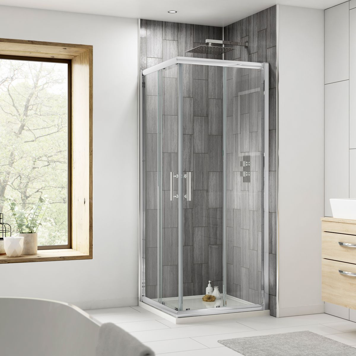Nuie Pacific Corner Entry Shower Enclosure